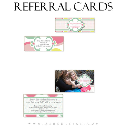 Referral Card Designs - Bubble Gum