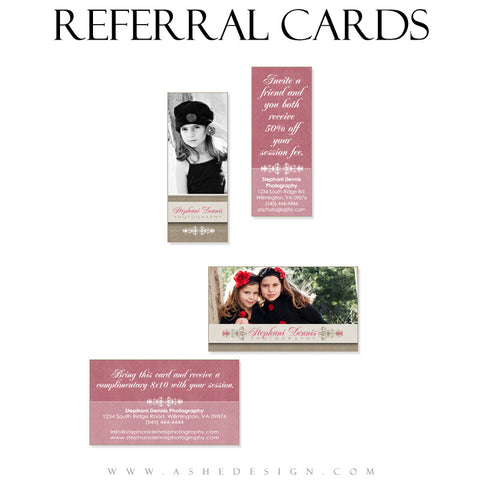 Referral Card Designs - Raspberry Cream