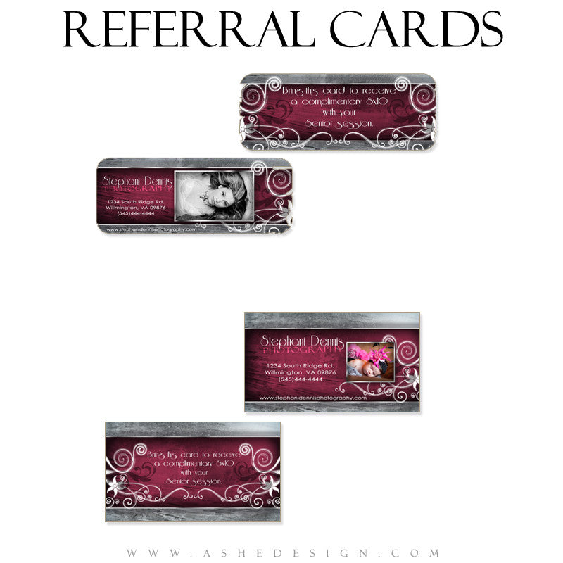 Referral Card Designs - Steel Magnolia