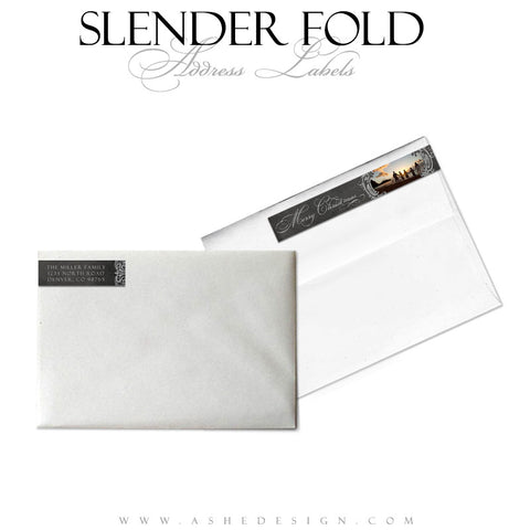 Slender Fold Address Label Designs - Chalkboard