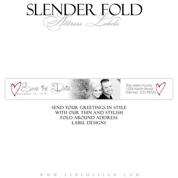 Slender Fold Address Label Designs - Cross My Heart