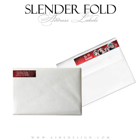 Slender Fold Address Label Designs - Ornamental