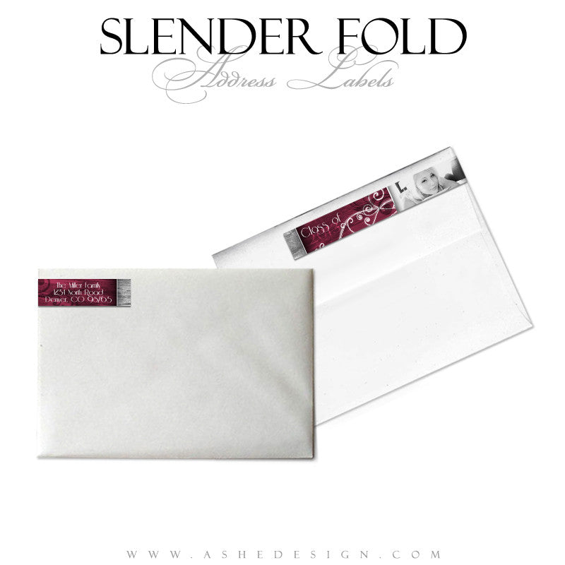 Slender Fold Address Label Designs - Steel Magnolia
