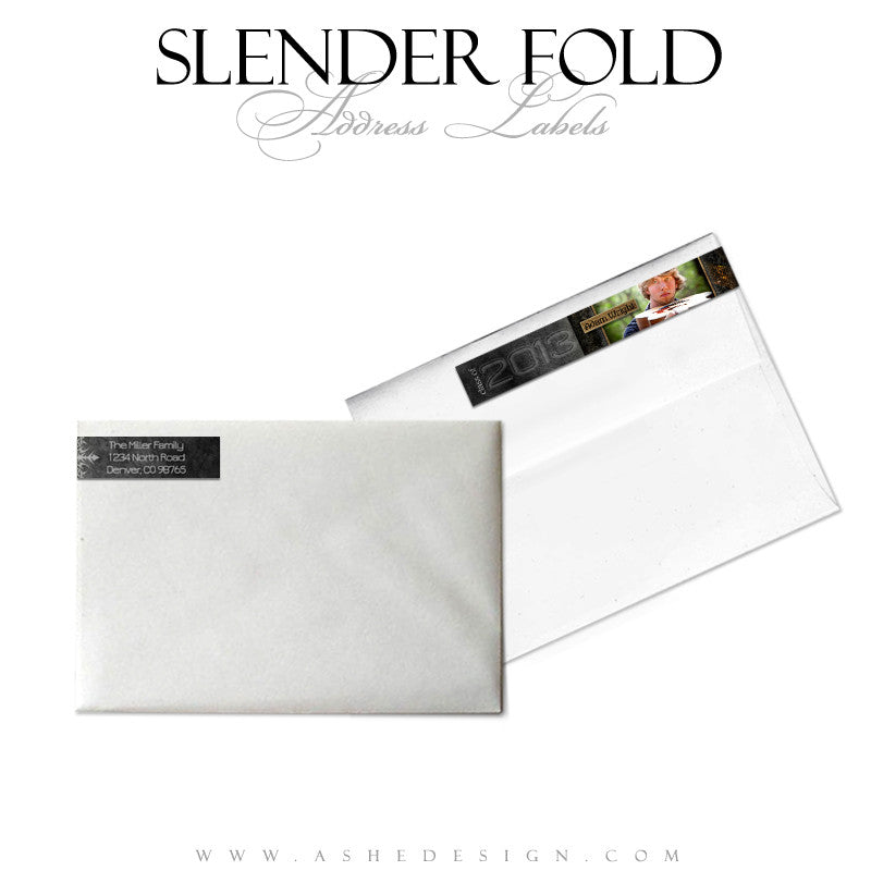 Slender Fold Address Label Designs - Tattooed
