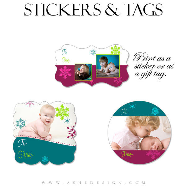 Sticker Design Set - Santa Baby