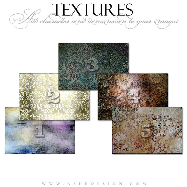 Ashe Design | Artistic Brocade Texture Overlays