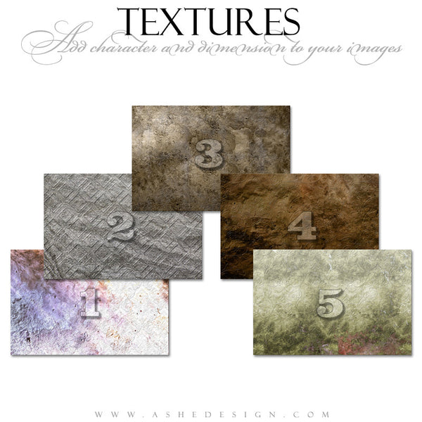 Ashe Design | Embossed  Texture Overlays
