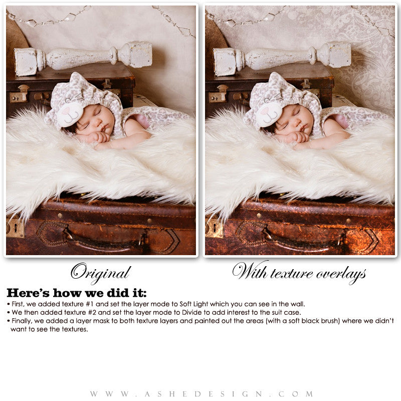 Ashe Design | Victorian Cottage Texture Overlays example