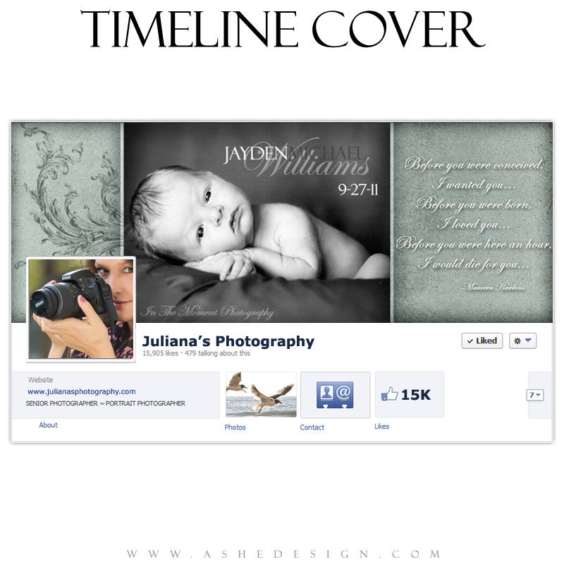 Timeline Cover Design - A Mother's Love