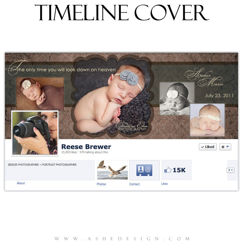 Timeline Cover Template | Amber Marie