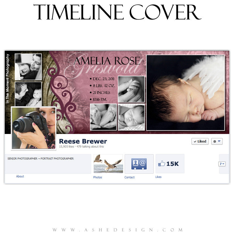 Timeline Cover Design - Amelia Rose