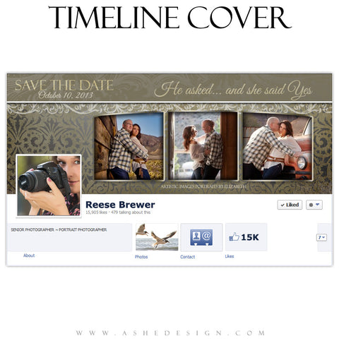 Timeline Cover Design - Antique Damask