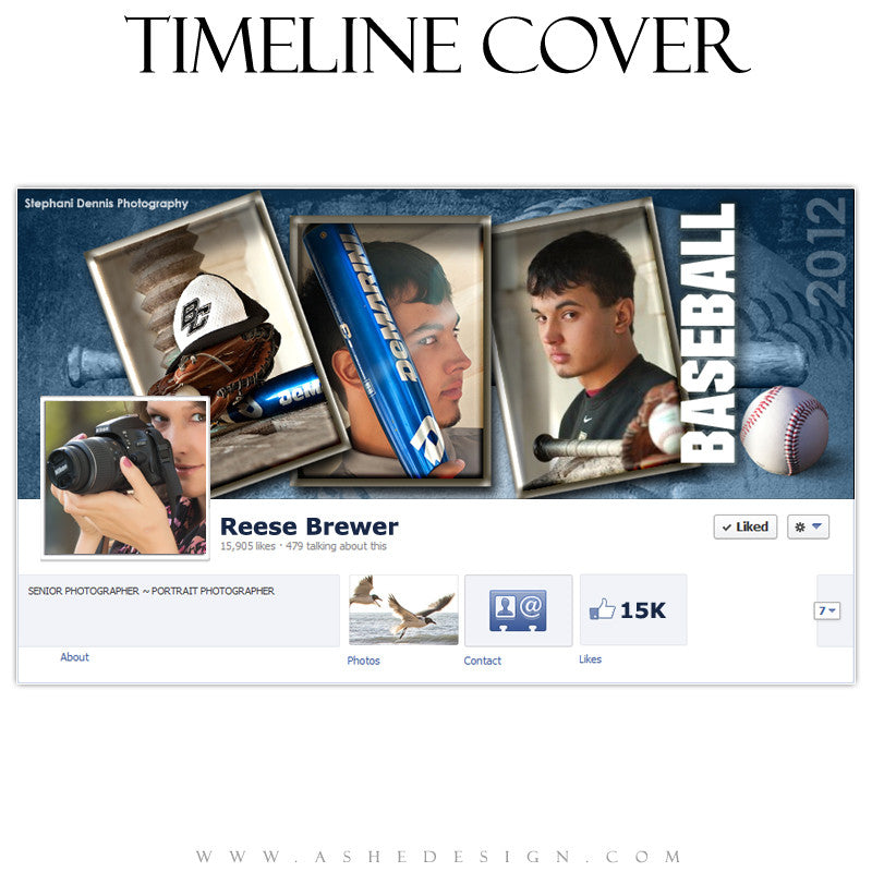 Timeline Cover Design - Baseball