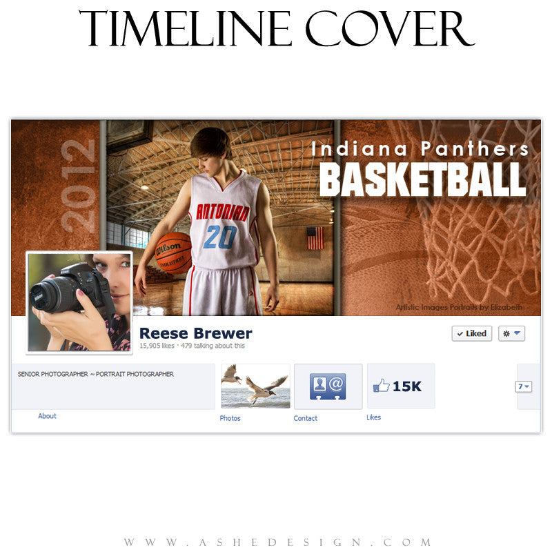 Timeline Cover Design - Basketball