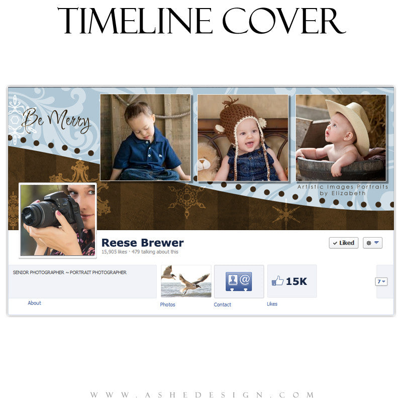 Timeline Cover Design - Be Merry