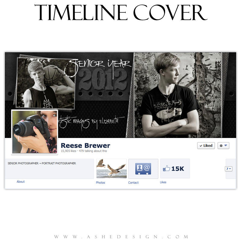 Timeline Cover Design - Black Leather