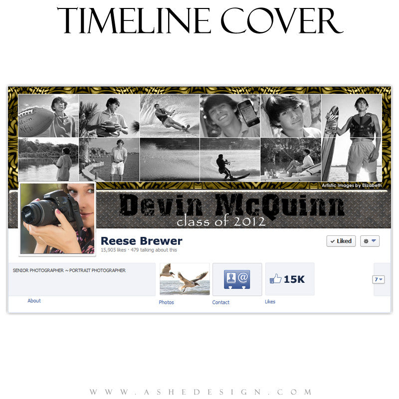 Timeline Cover Design - Blocked