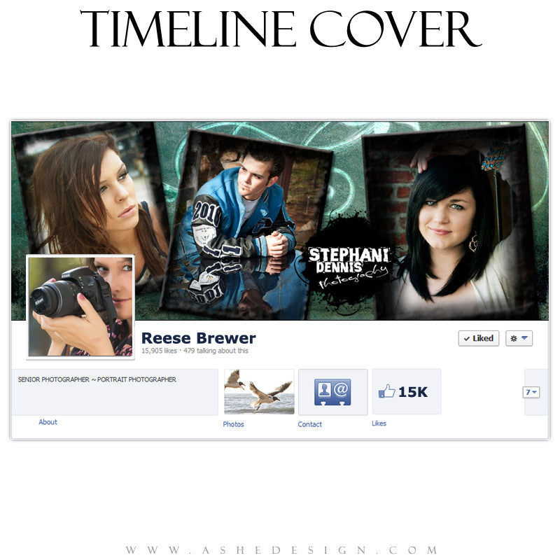 Timeline Cover Design - Blue Latte Grunge