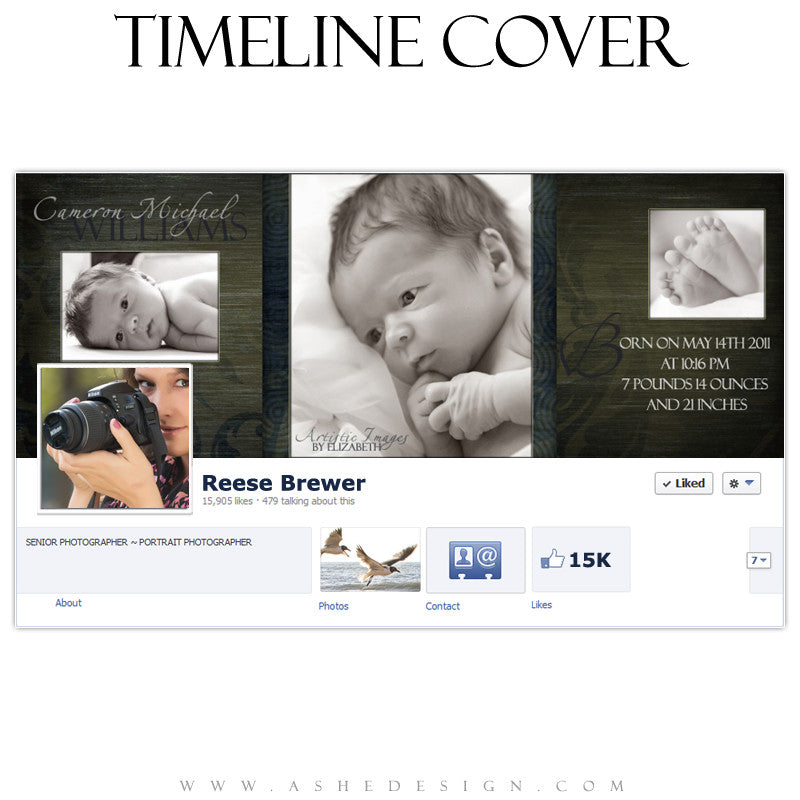 Timeline Cover Design - Cameron Michael