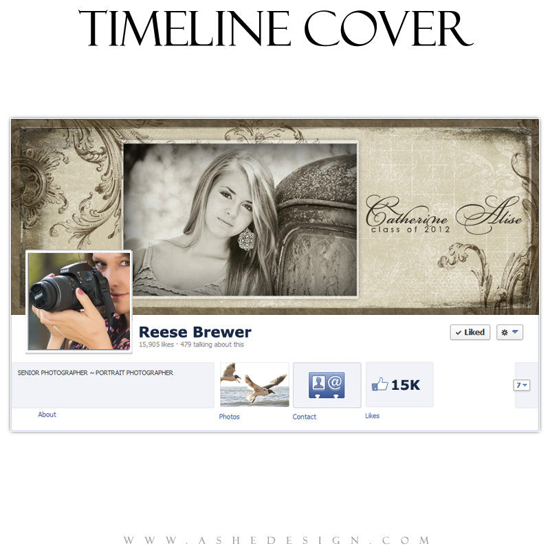 Timeline Cover Design - Catherine Alise
