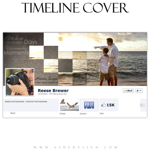 Facebook Timeline Cover - Checkerboard
