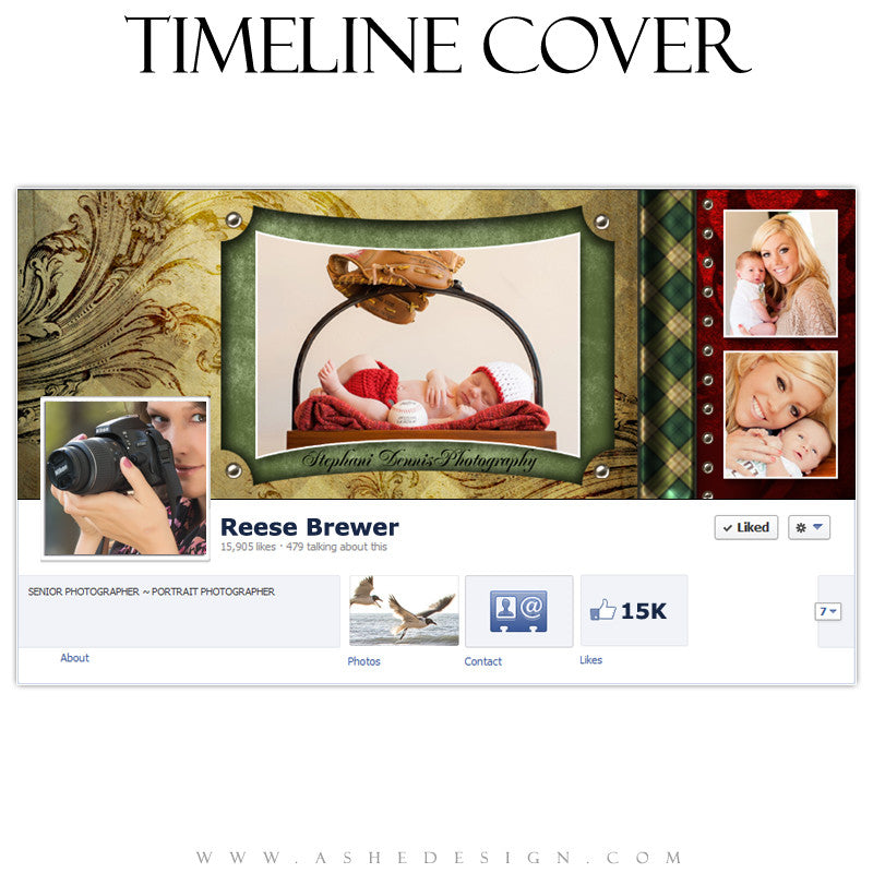 Timeline Cover Design - Christmas Couture