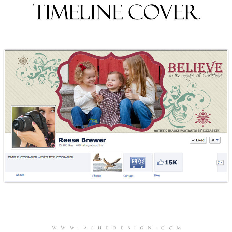 Timeline Cover Design - Christmas Magic