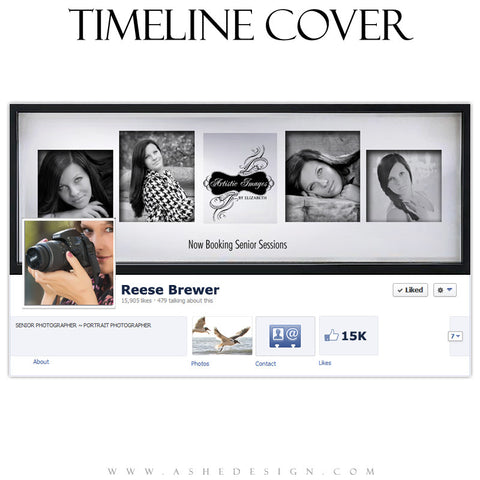 Timeline Cover Design - Classic Black Framed