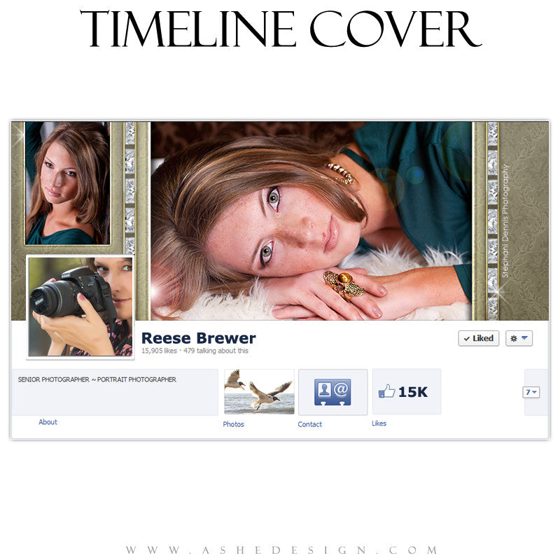 Timeline Cover Design - Diamonds & Lace