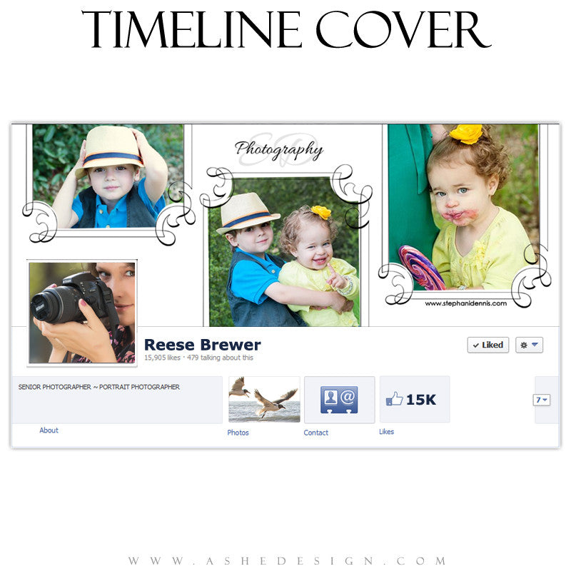 Timeline Cover Design - Elegant Swirls