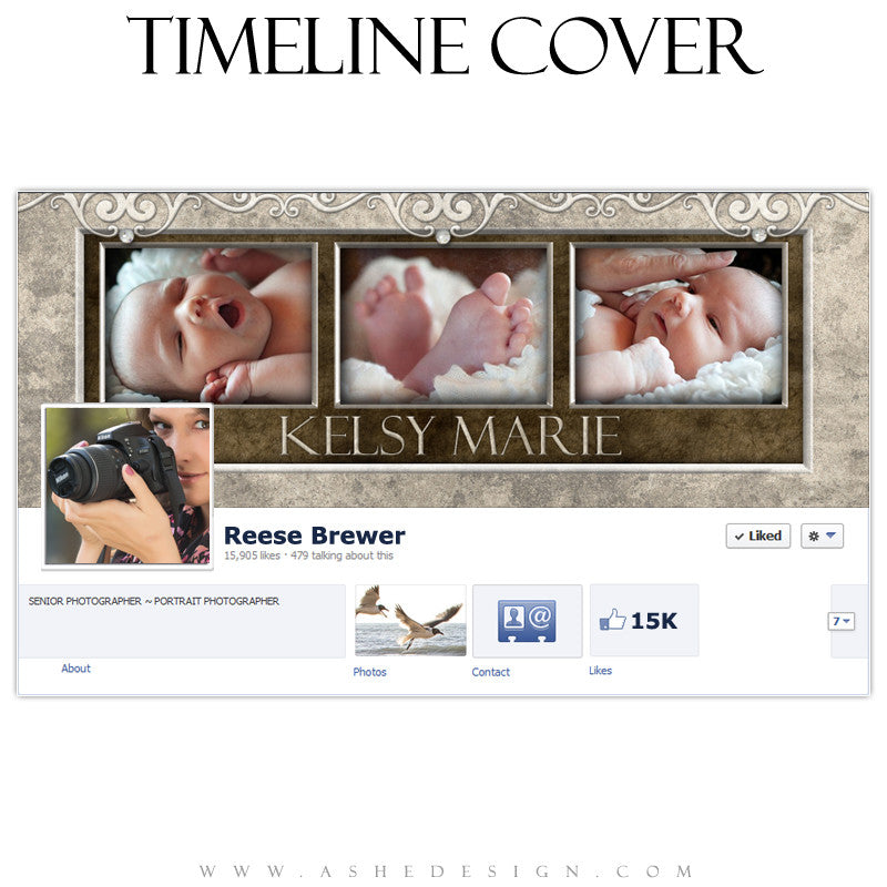 Timeline Cover Design - Embossed