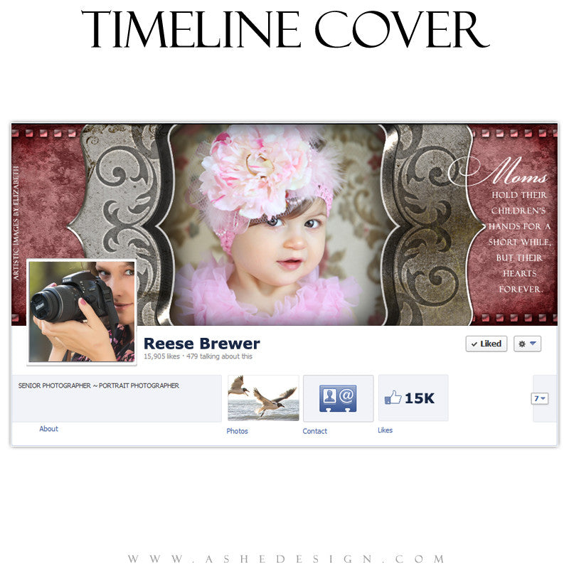 Timeline Cover Design - Engraved Elegance