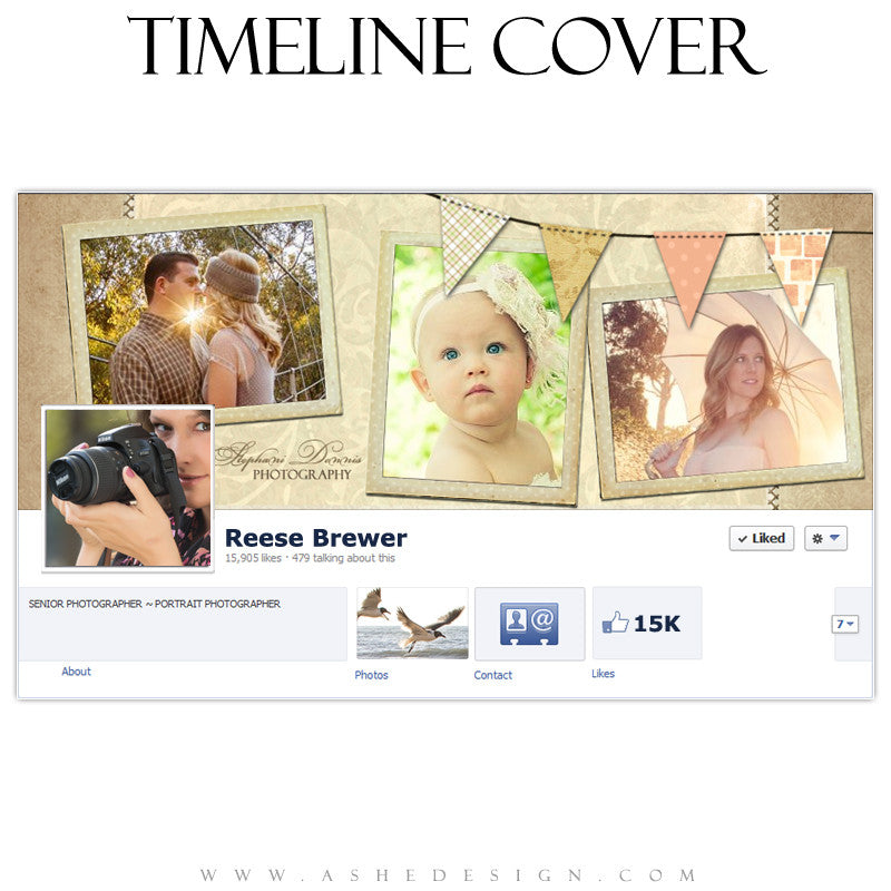 Timeline Cover Design - Family Quilt