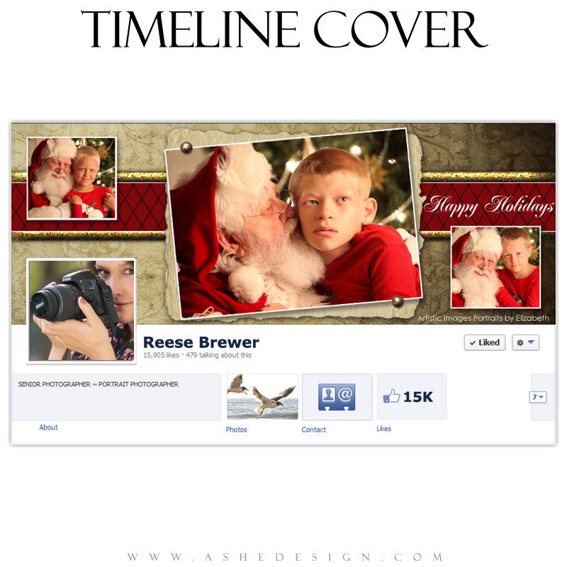 Timeline Cover Design - Ginger Bread