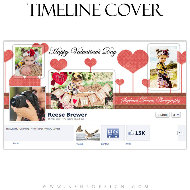 Timeline Cover Design - Happy Hearts