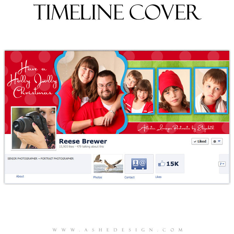 Timeline Cover Design - Holly Jolly Christmas