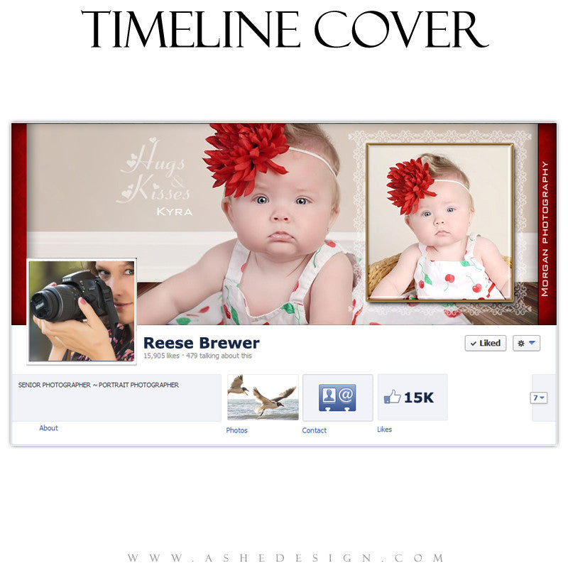 Timeline Cover Design - Hugs & Kisses