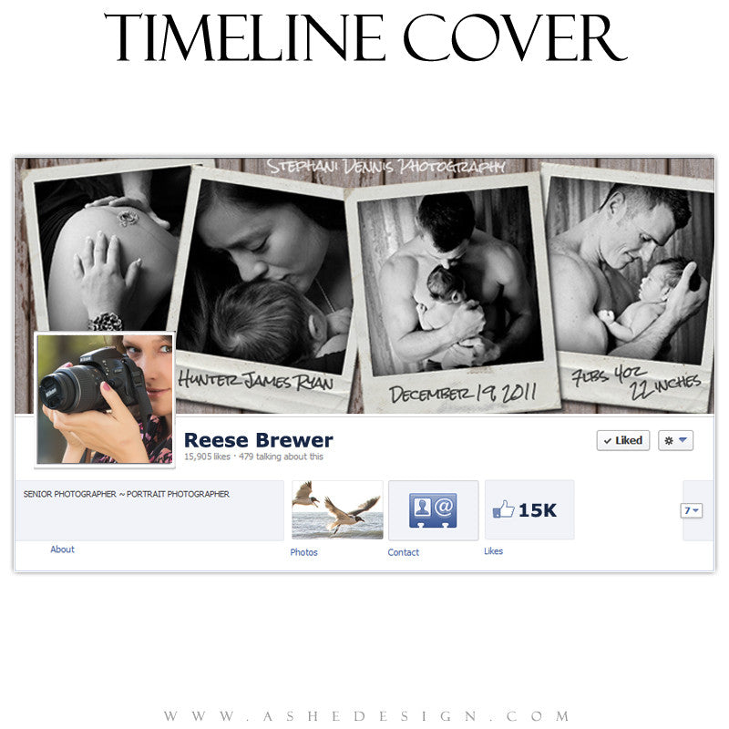 Timeline Cover Design - Photographs