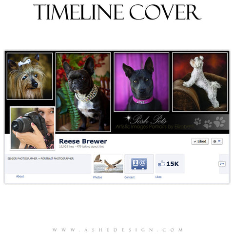 Timeline Cover Template | Posh Pets