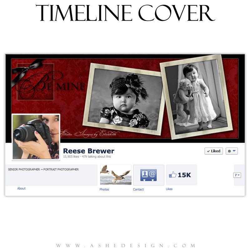 Timeline Cover Design - Red Hot Valentines