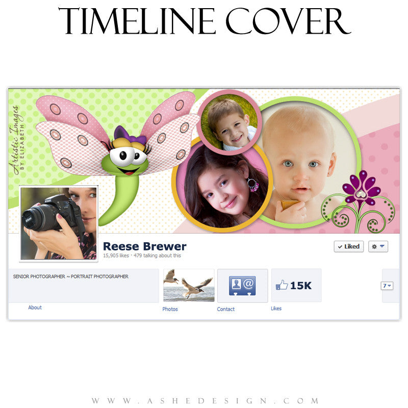 Timeline Cover Design - Spots & Dots