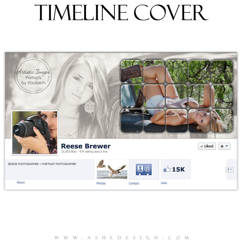 Timeline Cover Design - Tiled