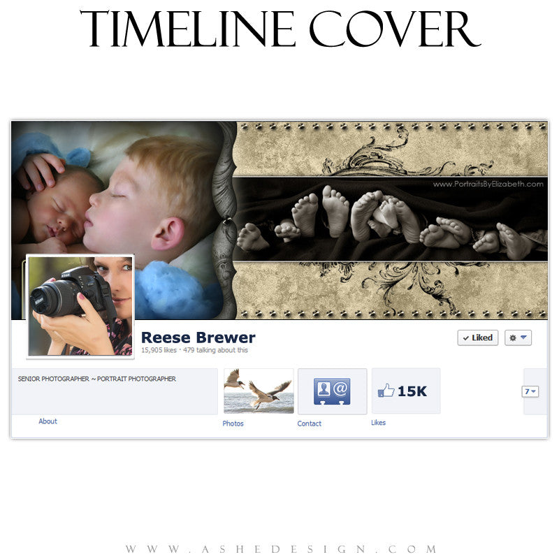 Timeline Cover Design - Timeless Beauty