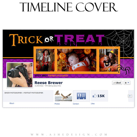 Facebook Timeline Cover | Trick or Treat