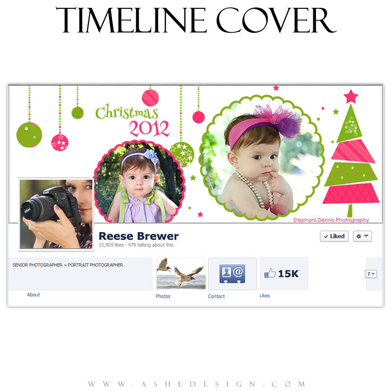 Timeline Cover Design - Whimsical Christmas