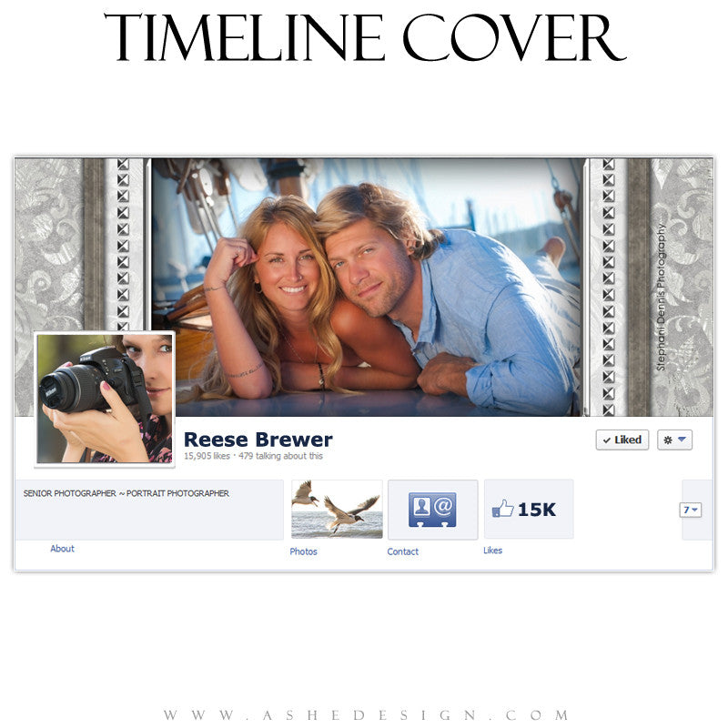 Timeline Cover Design - White Wedding