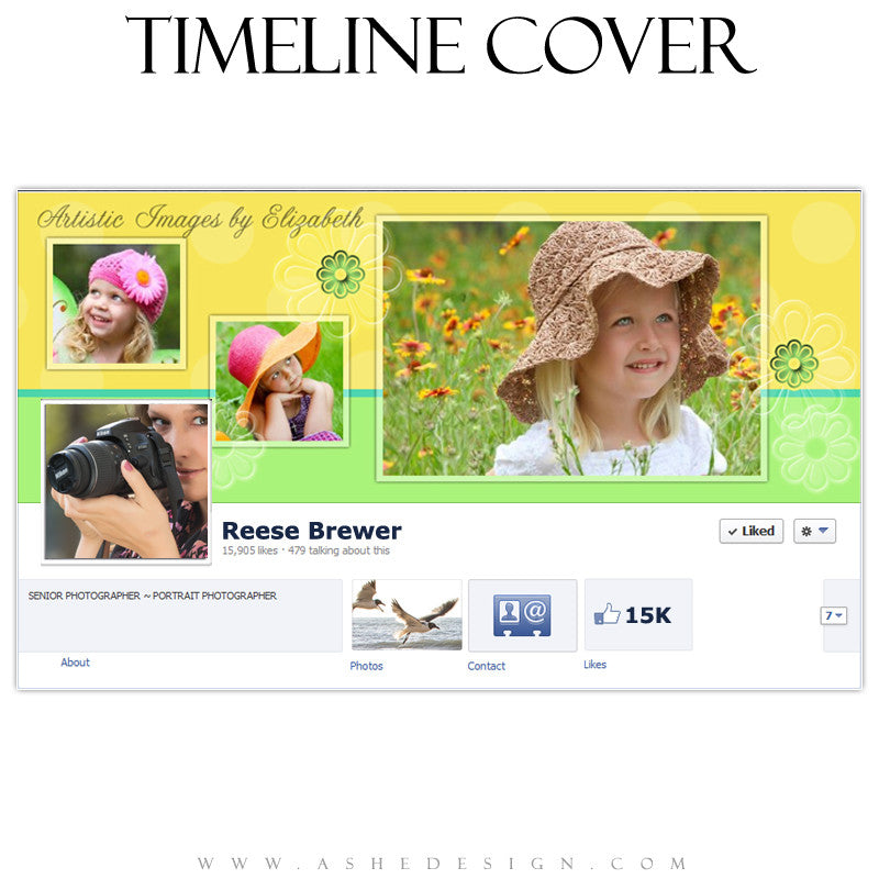 Timeline Cover Design - Yellow Daisy
