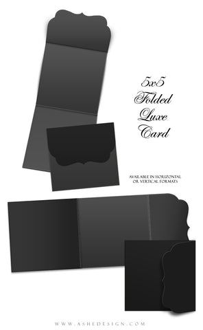 Ashe Design | 5x5 Folded Luxe Mockup