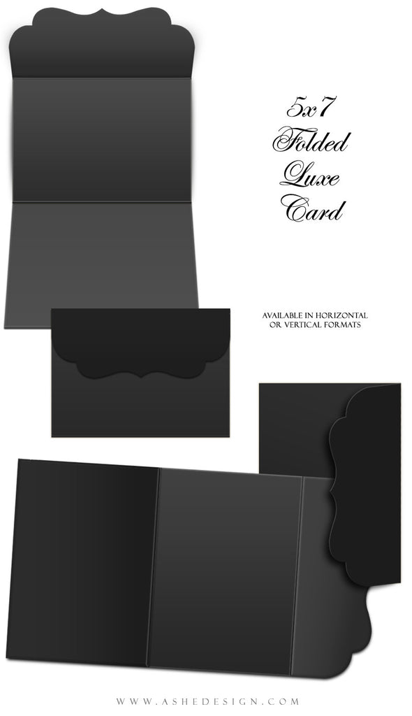 Ashe Design | 5x7 Folded Luxe Mockup