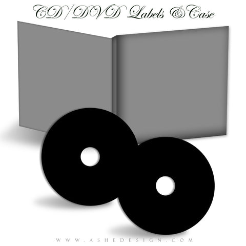 Ashe Design | CD-DVD Labels & Cases Mockup